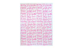 Merry Type Screen Printed Gift Wrap 2 by ParrottDesignStudio