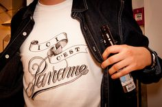 """Centre Commercial launches the """"Ici c'est Paname"""" t-shirt, created by Bleu de Paname in collaboration with the Parisian graphic designer Tyrsa.    Photos from the evening (recommended by French lifestyle magazine Les Inrocks)"""