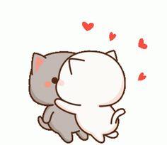 Crazy Friend Quotes, Crazy Friends, Cute Anime Cat, Cute Cat Gif, Smooch Kiss, Chibi Cat, Kawaii Dessert, Cute Cat Wallpaper, Cute Love Pictures