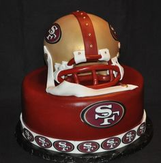 49ers Cake!!!! I so need to make this for my Eddie n Rayven!