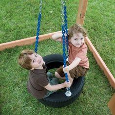 balancelle originale et créative en pneu - jeux de plein air pour les plus petits
