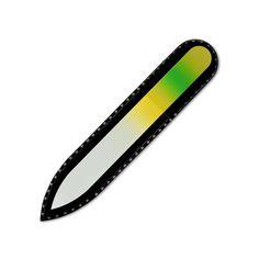 Lima de uñas de cristal de color en estuche de terciopelo negro, tamaño pequeño, vidrio templado checo auténtico, Garantía de por vida | Fabricado a mano en la República Checa: Amazon.es: Belleza