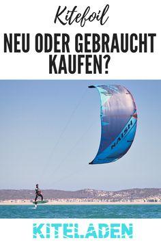 Du bist auf der Suche nach einem neuen Kitefoil? Hier findest du viele Tipps, ob es besser ist, das Kitefoil neu oder gebraucht zu kaufen! Mit einem Kitefoil kannst du schon ab ca. 10 Knoten foilen gehen und brauchst viel weniger Wind als beim herkömmlichen Kitesurfen.  #kitefoil #kitefoilen #kitesurfen