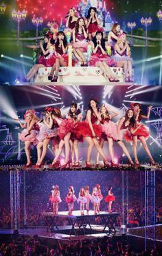 SNSD Girls Generation ( Yuri at the front in the middle on middle picture <3) they look Sooo adorable and cute! Love this pic <3