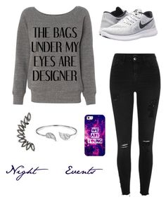 """Night Events"" by stina999 on Polyvore featuring River Island, NIKE, Casetify and Bling Jewelry"