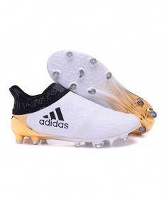 sale retailer 11bca 66880 2016 Adidas X 16 Purechaos FG AG Chaussures de foot Blanc d or noir