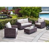 Found it at AllModern - Capitola 4 Piece Seating Group with Cushions