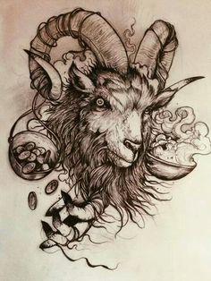 goat tattoo | там,где меня никогда не будет | Pinterest ... Baal Berith Demon