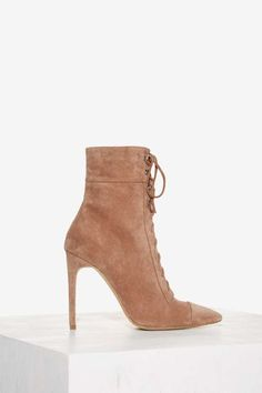 Jeffrey Campbell Elphaba Suede Boot - Taupe   Shop Shoes at Nasty Gal!