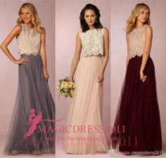 Gorgeous Beach Boho Vintage Bridesmaid Dresses Bhldn 2016 Cheap A-Line Jewel Evening Gowns Grey Burgundy Garden Wedding Guest Party Dress New Bridesmaid Dresses Cheap Bridesmaid Dresses Long Maid of Honor Dress Online with 106.0/Piece on Magicdress2011's Store   DHgate.com