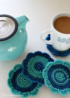 Cute coasters and scalloped edge instructions