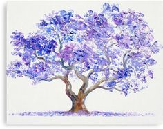 Jacaranda Tree Canvas Print by Jan Matson. All canvas prints are professionally printed, assembled, and shipped within 3 - 4 business days and delivered ready-to-hang on your wall. Choose from multiple print sizes, border colors, and canvas materials. Tree Canvas, Canvas Art, Painting Canvas, Painting Tattoo, Watercolor Trees, Watercolor Paintings, Tree Paintings, Flower Watercolor, Painting Gallery