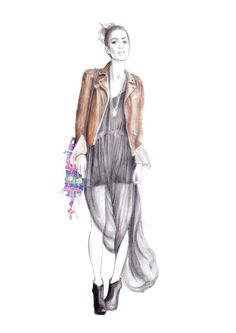 Rumi Neely - fashion illustration - Lena Ker