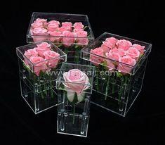 Wholesale Acrylic Rose Box,Acrylic Rose Box Manufacturer Box Manufacturers, Acrylic Box, Rose, Pink, Roses
