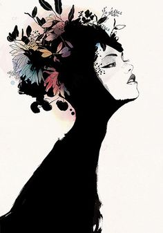 Conrad Roset, NOIR - limited edition of 5, silkscreen and watercolor on paper, (Canson Acuarela-Guarro, 60% cotton, 350 g/m2) - 27.55″ x 39.37″