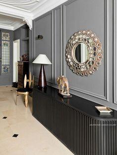 Booster le style haussmannien par Marion Collard www. Classic Interior, Luxury Interior, Luxury Furniture, Interior Styling, Modern Furniture, Home Furniture, Furniture Design, Furniture Online, Rustic Furniture