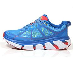 Hoka One One Infinite Running Sneaker Shoe  Dresden BluePoppy Red  Womens  8 -- Details can be found by clicking on the image.