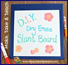 Dry Erase Slant Board (a slanted board may be better for children with writing difficulties)