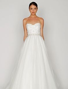 CLASSIC   Strapless A-Line Wedding Dress  with Natural Waist in Tulle. Bridal Gown Style Number:32298317