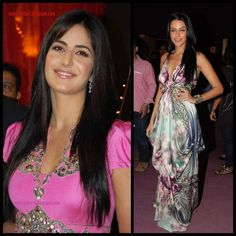 Poker Straight:Seen here on Katrina Kaif (note the side flicks!) and Neha Dhupia, straightened hair creates an effortlessly chic look.
