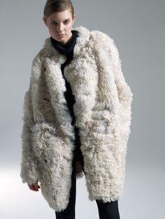 Curly lamb fur coat