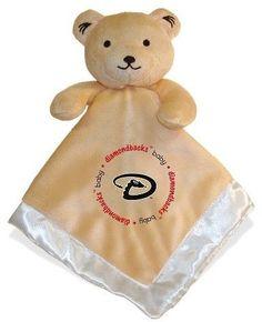 MLB Arizona Diamondbacks Small Bear Security Blanket - White