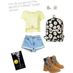 Looking for Alaska by oliviapicayune on Polyvore featuring polyvore, fashion, style, Zalando, Timberland, Motel, Bling Jewelry and Daisy Jewellery