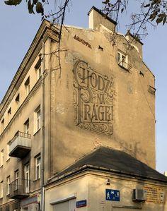 Chodź na Pragę! Logo Design, Sign Writing, Typography Inspiration, Lettering, Letter Logo, Warsaw, Mount Rushmore, Cool Photos, Believe