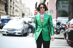 How French Girls Do Street Style For Fashion Week  #refinery29  http://www.refinery29.com/2016/03/105661/paris-fashion-week-fall-winter-2016-street-style-pictures#slide-58  Seriously, who could possibly rock a statement tie like Yasmin Sewell?...