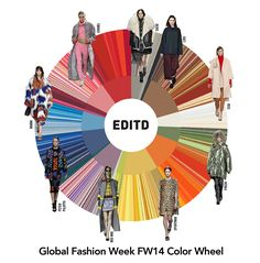 EDITD's color wheel reveals top global color trends for Fall 2014