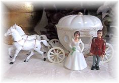 Vintage Cinderella Cake Toppers - had 1 similar to this for my 4th birthday party - my fav cake EVER!!