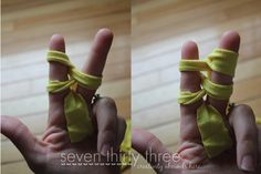 Finger Knitting - Two Fingers