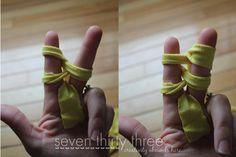 Finger Knitting - Two Fingers