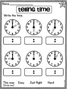 222 best telling time images on pinterest in 2018 1st grade math first grade math unit 15 telling time ibookread ePUb