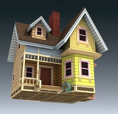 Disney's Up Papercraft: Carl's Flying House | Papercraft Paradise | PaperCrafts | Paper Models | Card Models