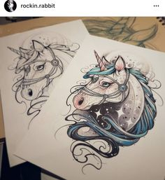 Unicorn Sketch, Unicorn Drawing, Unicorn Art, Tattoo Sketches, Tattoo Drawings, Art Drawings, Dibujos Tattoo, Desenho Tattoo, Tattoo Apprenticeship