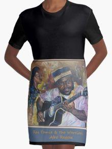 Afro-Reggae Graphic T-Shirt Dress