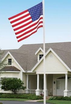 Adding a flagpole to your landscape is a great way to show pride in your country or to support your favorite team by flying their colors. A flagpole will make a statement in your yard, but you need to install it properly. Flag Pole Landscaping, Backyard Landscaping, Landscaping Ideas, Pvc Flag Pole, Flag Poles, Backyard Projects, Home Projects, Outdoor Projects, Telescoping Flagpole