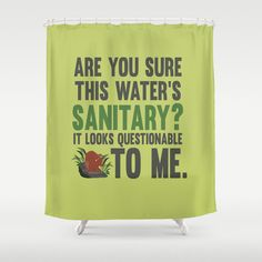 are you sure this water is sanitary funny tarzan quote shower curtain by studiomarshallgifts on Etsy
