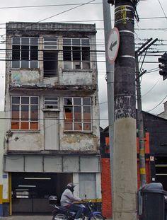 Decay building (former Piratininga Ballroom)at Mooca Street / Sao Paulo Brazil