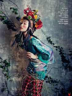'Room with a Garden' Sung Hee Kim & Jung Sun Jin by Bo Lee for Vogue Korea February 2013 [Editorial] - Fashion Copious Foto Fashion, Fashion Art, Editorial Fashion, High Fashion, Fashion Design, Vogue Editorial, Style Fashion, Luxury Fashion, Vogue Korea