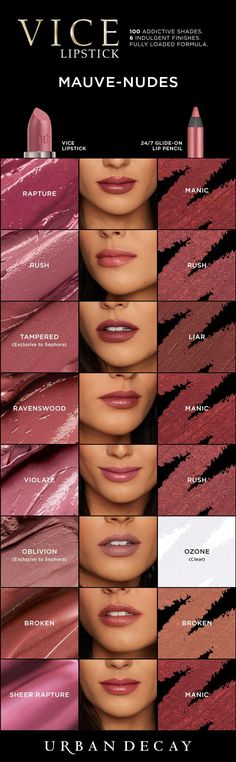 Love mauve and nude? Then these shades of Vice Lipstick were made for YOU! #LipstickIsMyVice #UrbanDecay