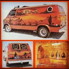 Here's a cool Dodge boogie van! Like the zoomies, fender flares, & custom paint!