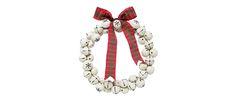 Cream Snowflake Bell Wreath at Laura Ashley