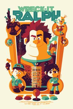#wreck-it ralph #movie #poster #design #strongstuff   strongstuff.net