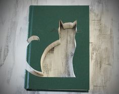 #book #vintage #recycle #ownfont #custom #cat #catbook