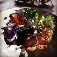 Glass beadwork from www.glassbeadgirls.ca @mardagrasyyc. #yycevents #sixfootcanasian #6FCA #yycartists