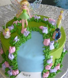 Tinkerbell cake. Maren would LOVE this!