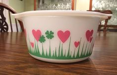 If you are a Pyrex collector you know the LUCKY IN LOVE  bowl is extremely popular and scarce since it was an advertising gift.  8/2/2015 one sold for $4250!!! OMG