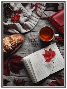 Flatlay Inspiration · via Custom Scene ·Grey and Red scene on wooden background with red autumn leaves and berries. Autumn Aesthetic, Book Aesthetic, Christmas Aesthetic, Aesthetic Outfit, Autumn Photography, Book Photography, Photography Lighting, Product Photography, Creative Photography